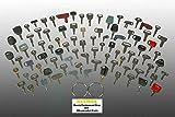 Keyman 100 Keys Heavy Equipment Key Set / Construction Ignition Keys Set - 100 different keys