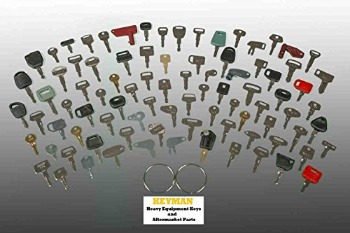 Keyman 100 Keys Heavy Equipment Key Set/Construction Ignition Keys Set - 100 Different Keys (Best Key Cutting Machine)