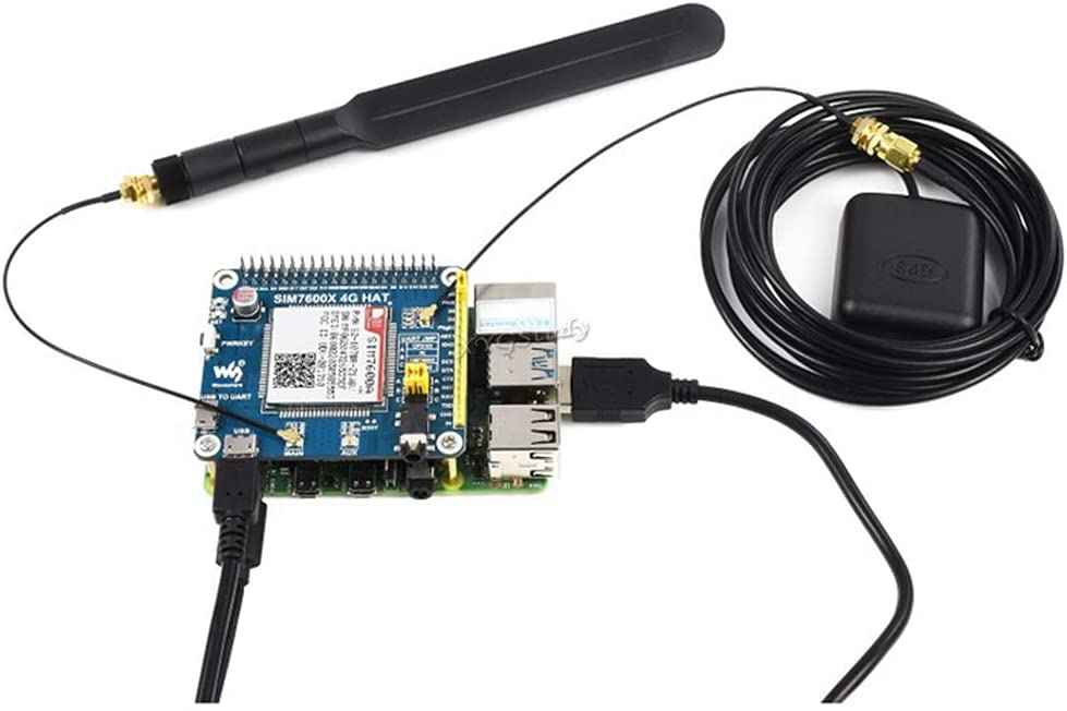 4G 3G GNSS HAT Based on SIM7600A-H LTE CAT4 150Mbps Wireless Communication Telephone Call SMS Compatible with Raspberry Pi 4 3 2 Model B B+ Zero W WH (US CA)@XYGStudy