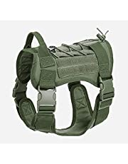 Tactical Dog Harness for Large Medium Dogs, Molle Vest for Service & Training Military Dogs Adjustable Training Hunting Dog Tactical Vest