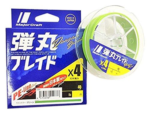 メジャークラフト ライン 弾丸ブレイド 4本編み 単色 DB4-200/2GR グリーン 200M/2.0の商品画像