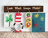 Cheap Kids Artwork Display – Christmas Gift Idea – Personalized – Look What Made! Wood Sign, F1