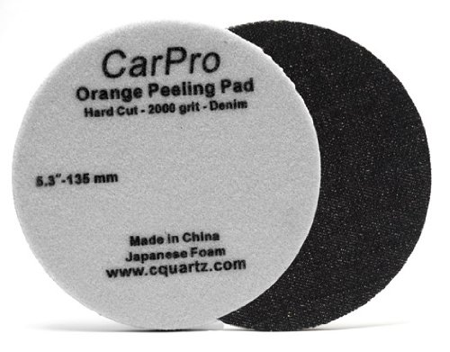 CarPro Denim Orange Peel Removal Pad ? 5.25 Inches 2 Pack
