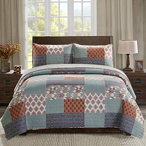 SLPR Urban Retreat 3-Piece Lightweight Printed Quilt Set (King) | with 2 Shams Pre-Washed All-Season Machine Washable Bedspread Coverlet