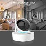 AKASO 2MP 1080P HD Wireless WiFi IP Security Camera Indoor Home Surveillance System Baby Monitor for Android/iOS Pan/Tilt Night Vision 2 Way Audio
