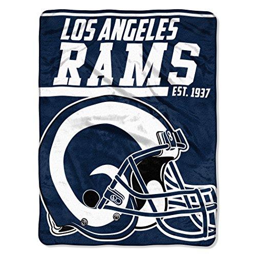 "NFL Los Angeles Rams 40 Yard Dash Micro Raschel Throw, 46"" x 60"""
