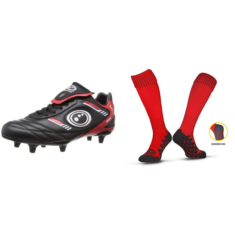 Optimum Unisex Kids Razor Moulded Stud Football Boots 13 Child, 32 EU
