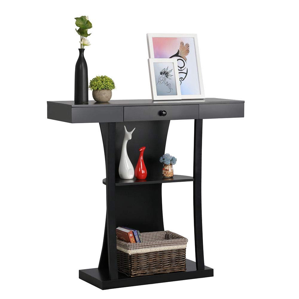 """GJH One Console Sofa Table Stand Entryway Hallway Home Centre Drawer Shelves 36.2""""x11.8""""x34.3''"""