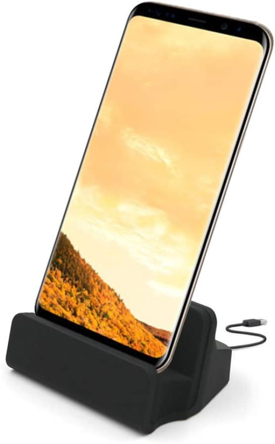Feite USB Type-C Cradle Charger Dock Stand Fast Charging for Samsung Galaxy S8 (Black)