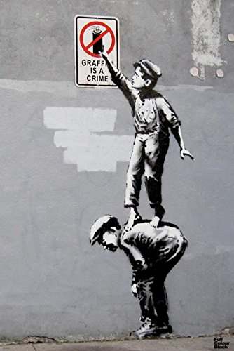 Graffiti Is A Crime Banksy Art Print Poster
