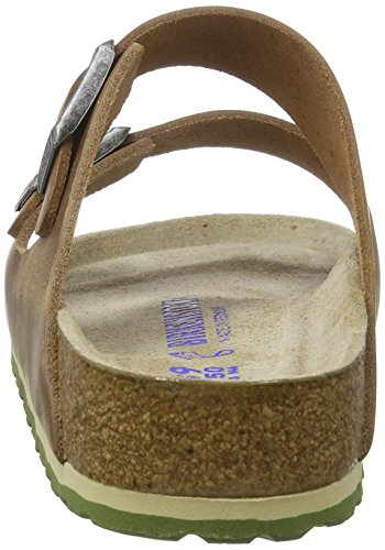 Birkenstock Arizona Leder Softfootbed - Mules Unisex adulto Braun (Antique Brown)