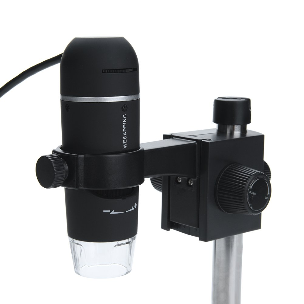 WESAPPINC 5MP 10-300X Magnification USB Digital Microscope with 8 Adjustable LED Light Source and Video Camera Measurement Software,Base Stand for Windows 10,Mac,Vista