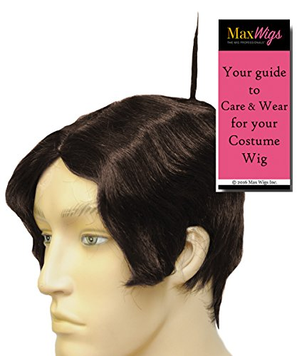 Alfalfa Costume Halloween (Bundle 2 items: Alfalfa Little Rascals Our Gang Men's Brown Wig Lacey Costume Wigs, MaxWigs Costume Wig Care Guide)