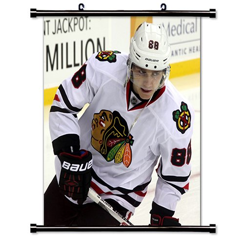 Patrick Kane Chicago Blackhawks NHL Hockey Star Fabric Wall Scroll Poster (32 x 36) Inches