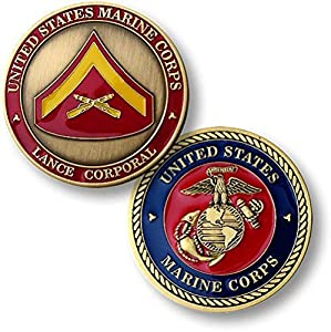 U.S. Marines Lance Corporal Challenge Coin by Armed Forces Depot
