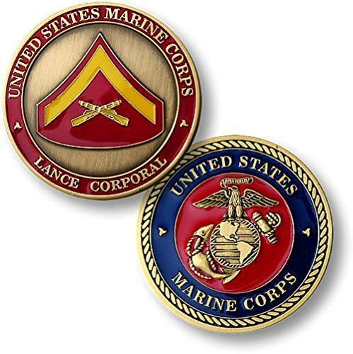 Corps Coin Challenge (U.S. Marines Lance Corporal Challenge Coin)