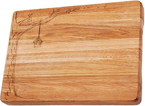 White Wood Premium Large Oak Cutting Board - Thick (1.7 Inch) (Organic Butcher Block)