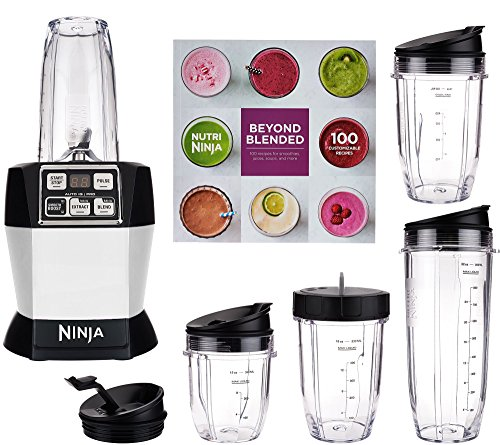 Nutri Ninja Auto iQ Pro Complete Blender 5 To Go Cups & 4 Lids | BL487 (Platinum) For Sale