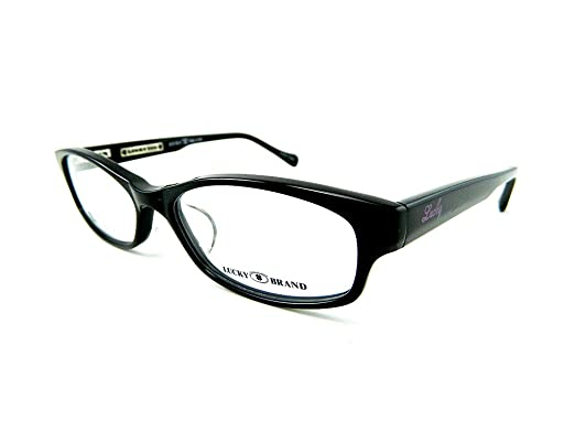 652c5594be3 Amazon.com  LUCKY BRAND POET AF Eyeglasses Black 53-16-135  Clothing