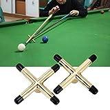 FidgetFidget Billiard Snooker Cue Rest Pool Cue AccessoriesWB 2X Brass Cross Bridge Head Pool