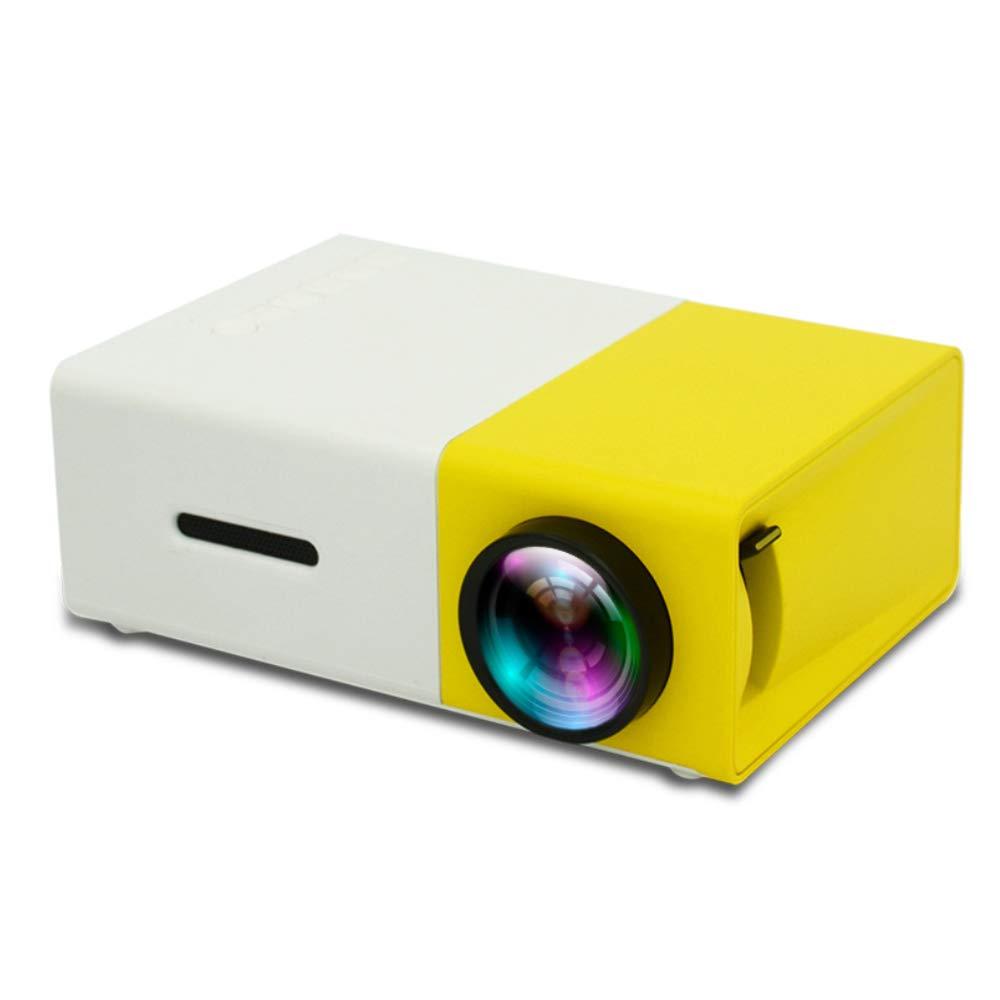 小型LCD LEDプロジェクター400-600LM 1080 pのビデオ320 x 240ピクセル家のProyector、携帯用LEDはコンピュータ電話のためのHDMIインターフェイスをワイヤーで縛り,Yellow  Yellow B07RTXLMP4