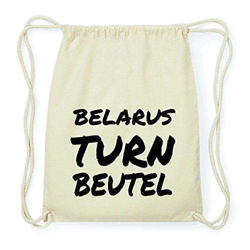 JOllify BELARUS Hipster Turnbeutel Tasche Rucksack aus Baumwolle - Farbe: natur Design: Turnbeutel