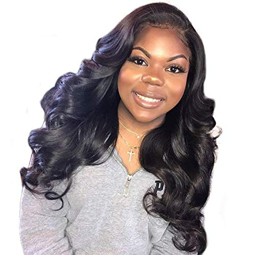 Full Lace Body Wave Wig 12 Inch Brazilian Short Full Lace Human Hair Wigs With Baby Hair 150% Glueless Full Lace Wigs Human Hair For Black Women Natural Color (Wave Lace Full Wig)