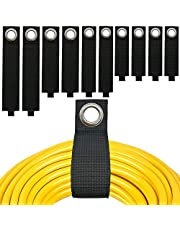 Extension Cord Organizer and Storage for Cable, Hose and Rope, Suitable for Garage, Home, Shop, Basement, Boat and RV, Built-in Large Grommet for Hanging on Both Nails and Hooks