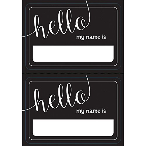 Chalkboard Look Hello My Name Is Name Tags (100ct)