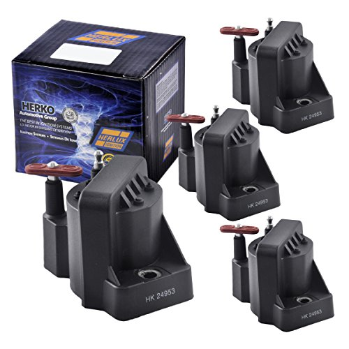 Coil Ignition Isuzu (Set of 4 Herko B005 Ignition Coils For Buick Chevrolet GMC Isuzu Pontiac 86-2005)