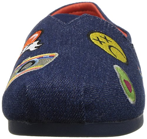 Skechers Womens Bobs Plush-Perfect Patch Flat Denim