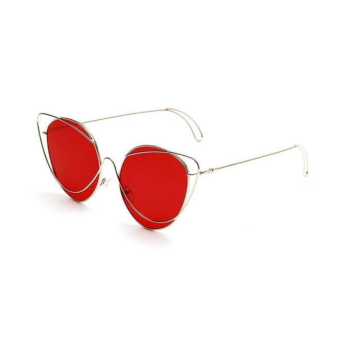 MINCL - Gafas de sol - para mujer rojo rosso: Amazon.es ...