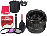 Canon EF 28mm f/1.8 USM Wide Angle Lens for Canon DSLR Cameras - International Version (No Warranty) + 3pc Filter Kit (UV, FLD, CPL) + 3pc Accessory Kit w/ Celltime Cleaning Cloth