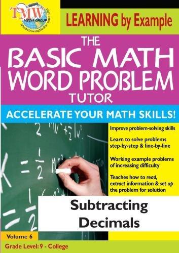 Basic Math Word Problem Tutor: Subtracting Decimals (Math Word Problems Dvd)