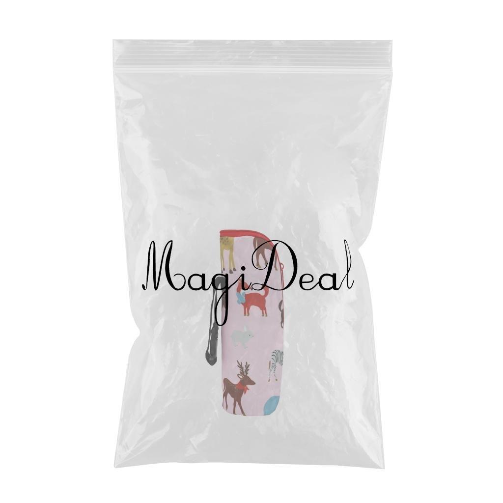 Beige Tiere MagiDeal Babyflasche Isolierung Halter Tasche Wasserflasche W/ärmer