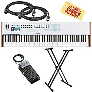 arturia keylab 88 keyboard controller bundle with adjustable stand expression pedal. Black Bedroom Furniture Sets. Home Design Ideas