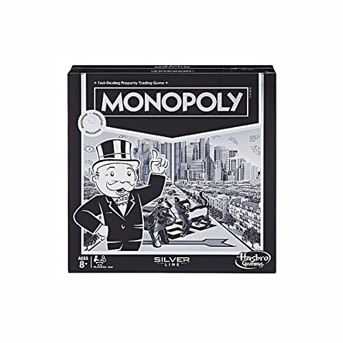 Monopoly Silver Line Exclusive Premium Board Game - New Modern Style with Foil Board