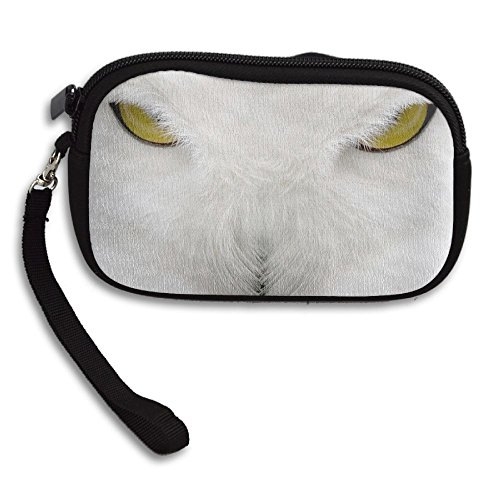 Portable Owl Small White Horrible With Printing Eyes Yellow Animal Bag Receiving Deluxe Purse 8ExxwgvU