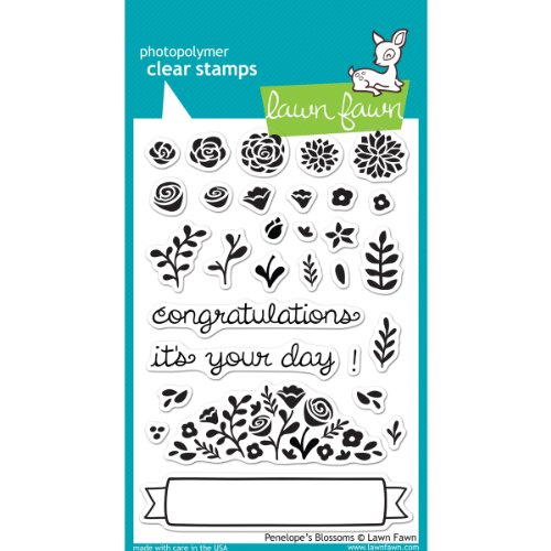 Lawn Fawn Clear Stamps - Penelope's Blossoms #LF604 by Lawn Fawn