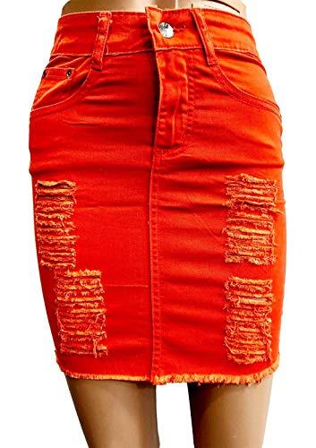 dchire Jupe pour EU en 46 dchire Femme dchire Islander Jean et Orange 34 Fashions v5TWTwFI