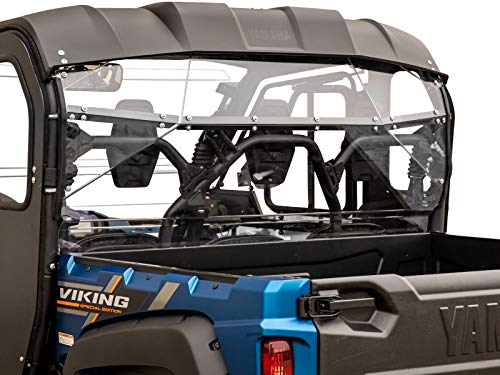 (SuperATV Lightly Tinted Polycarbonate Rear Windshield for Yamaha Viking (2013+) - Easy to)