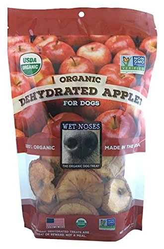 Wet Noses Dehydrated Chews, Apple Round Slices, Large/4 oz Bag