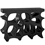 Modern Contemporary Urban Living Lounge Sidebaord Rack Stand Console Entry Table, Black, Plastic