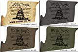 Ultimate Arms Gear Mag Wraps Magwell Slaps Color + Stealth Black + FDE Flat Dark Earth Tan + OD Olive Drab Green DTOM Don't Tread On Me AR15/M4/M16 .223 5.56 Waterproof Durable Lower Decal Skin Kit - USA MADE (4 Total)