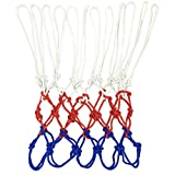Aoneky Outdoor Polyester Basketball Net - White/Red/Blue