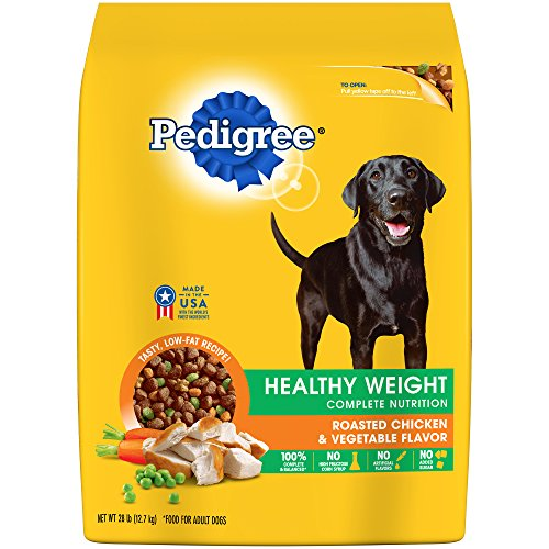 Pedigree Healthy Weight Adult Dry Dog Food Roasted Chicken & Vegetable Flavor, 28 Lb. Bag (Discontinued By Manufacturer)