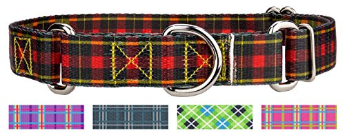 Image of Country Brook Design | 1 Inch Buffalo Plaid Martingale Dog Collar - Large