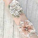 Unique Flower Newborn Headbands Set Of 2 By Yasmine Layani| Headbands with fabric flowers and Rhinestones