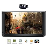 Tmaxlife Android 5.1 Quad Core 2 din Without Car DVD CD Player 7 inch Double Din Capacitive Multi-Touch Screen GPS Navigation Radio Stereo Support Bluetooth/USB/FM/AM/Wifi/Mirror Link/Rear Camera