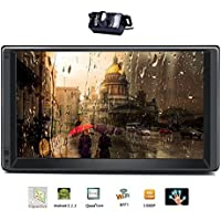 Tmaxlife Android 5.1 Quad Core 2 din Car Without DVD Player 7 inch Double Din Capacitive Multi-Touch Screen GPS Navigation Radio Stereo Support Bluetooth/USB/FM/AM/Wifi/Mirror Link/Rear Camera